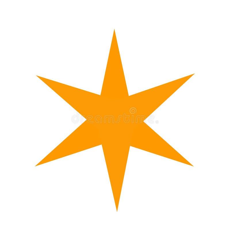 与6边的星形状 皇族释放例证