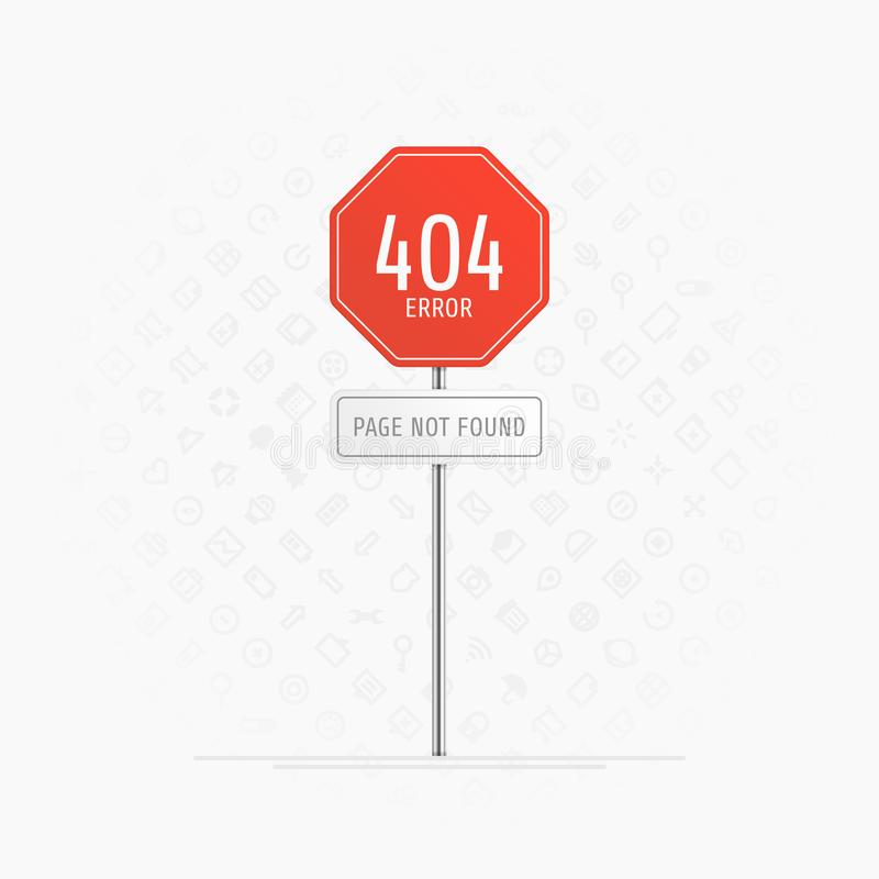 与404错误的页 向量例证