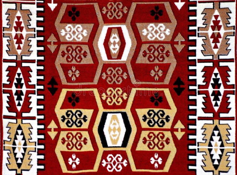 与主题的土耳其地毯样式 库存图片