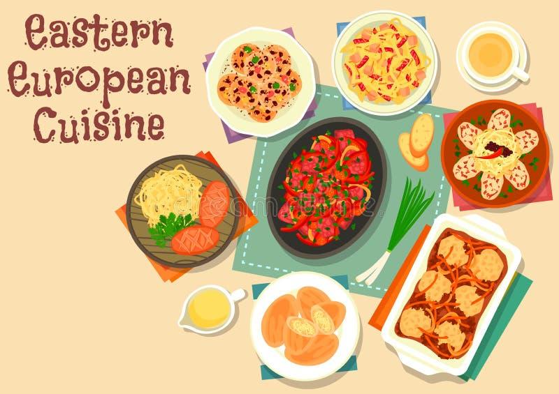 与素食者的东欧烹调象,肉 皇族释放例证