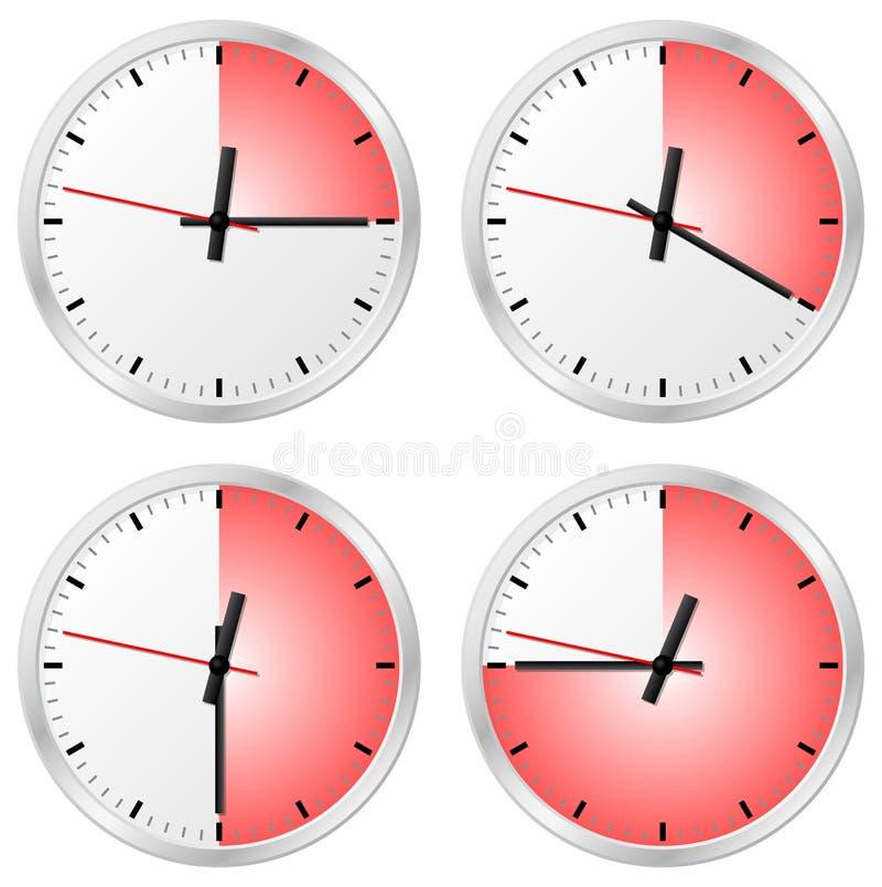 与15, 20, 30和45分钟的定时器 皇族释放例证