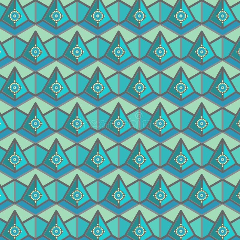 与3D作用的现代五颜六色的六角重复的样式 皇族释放例证