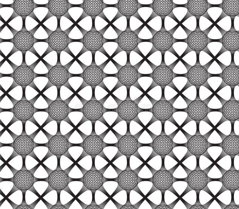 与3D作用,黑白s的被连接的球形地球 库存例证