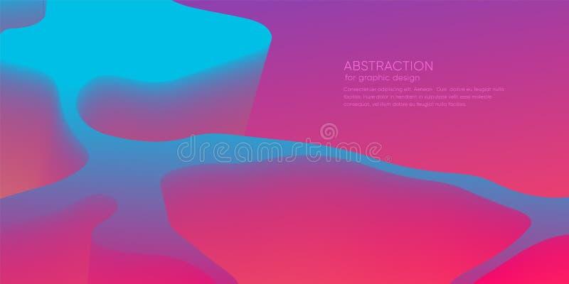 与3d动态形状的抽象墙纸 与行动形式的背景 未来派时髦背景 现代的格式 向量例证