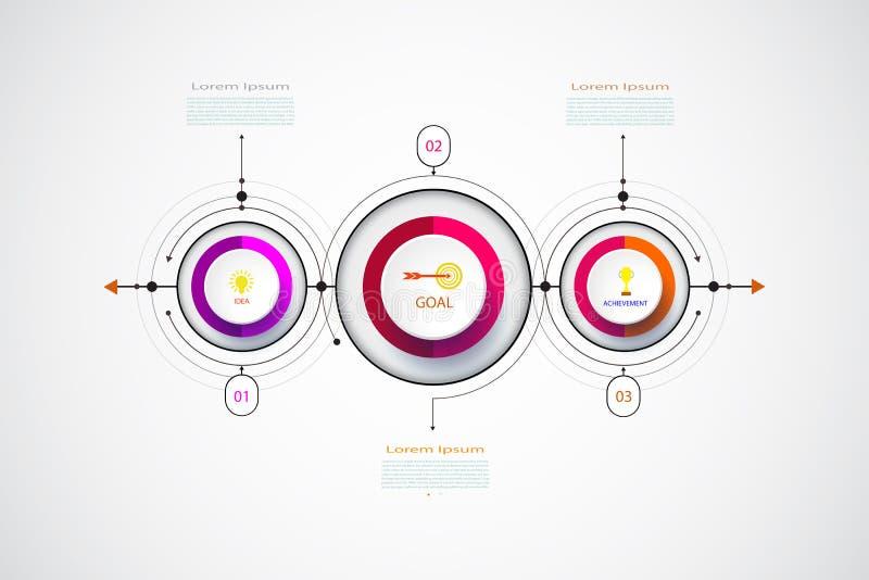 与3D的传染媒介infographic业务设计模板 向量例证