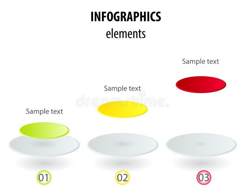 与3D纸标签,联合circl的传染媒介infographic模板 向量例证