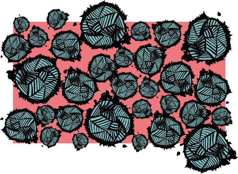 与acqua和黑色的背景桃红色 图库摄影