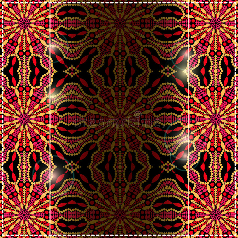 与Astract五颜六色的明亮的背景的黑色红色黄牌 免版税库存照片