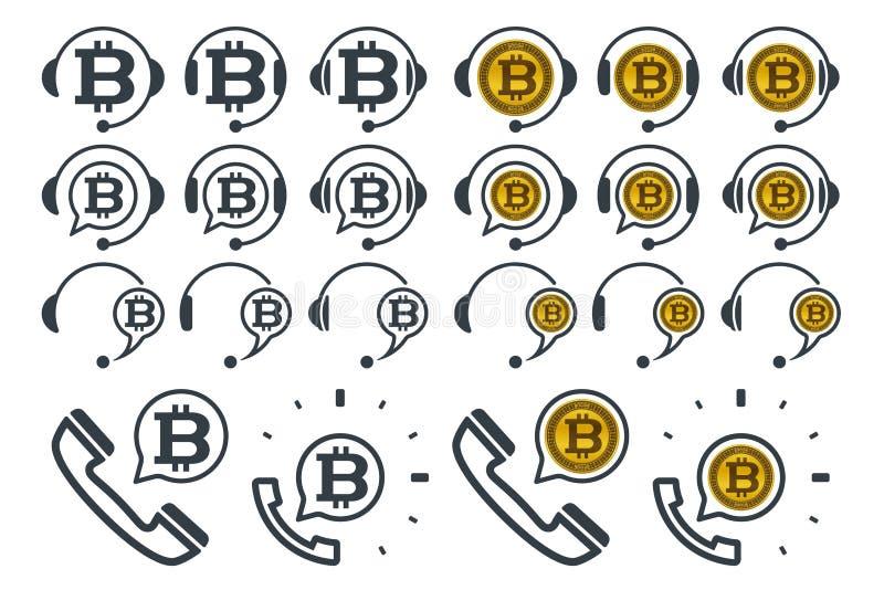 与bitcoins的耳机象 库存例证