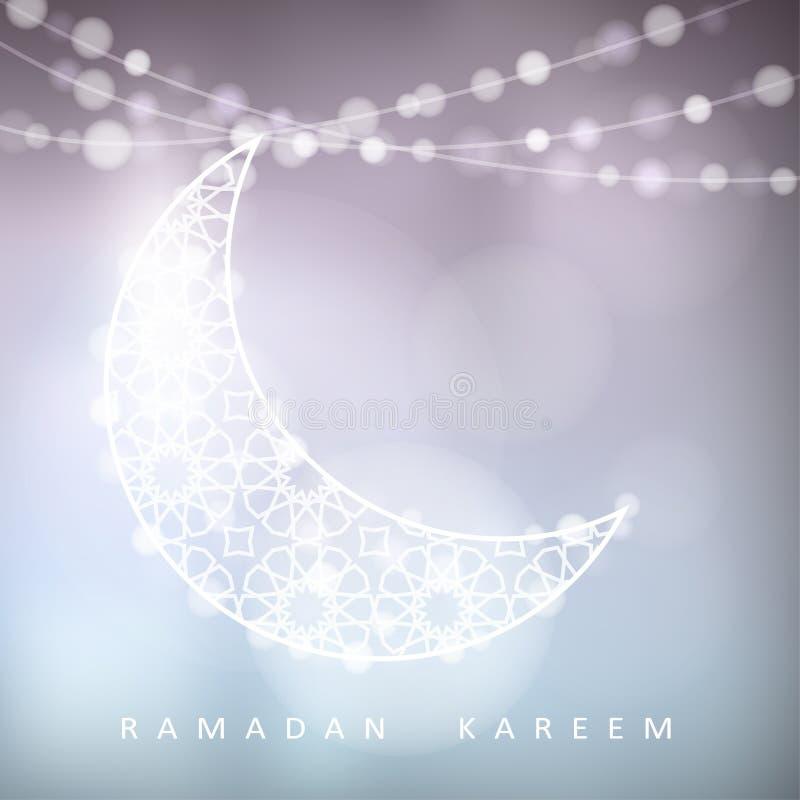 与bokeh光的装饰月亮,赖买丹月,