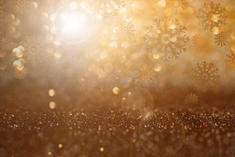 与bokeh和冰花的圣诞节背景 库存照片