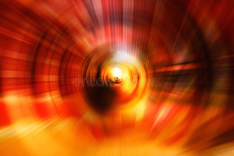 与bokeh defocused光的抽象行动速度背景 库存照片