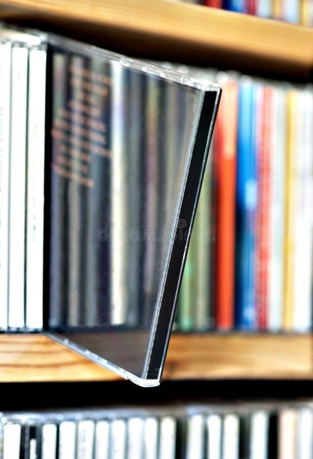 在架子的CD 库存照片
