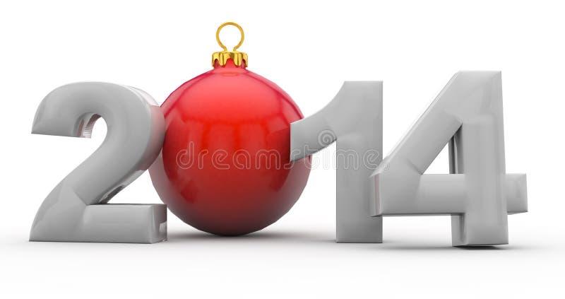 与chistmas结构树的圣诞节2014年 皇族释放例证