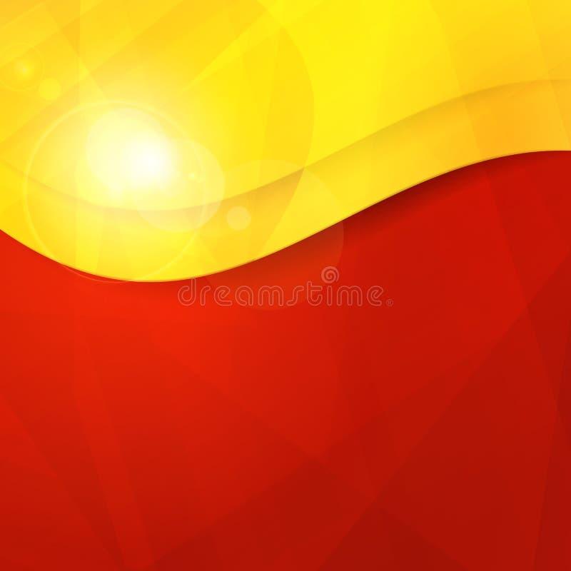 与co的抽象红色橙黄设计模板 皇族释放例证