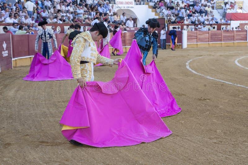 与crut的西班牙斗牛士Curro希门尼斯斗牛 免版税库存照片