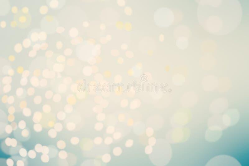 与defocused光的美好的Bokeh背景 模糊的Abstrac 库存照片