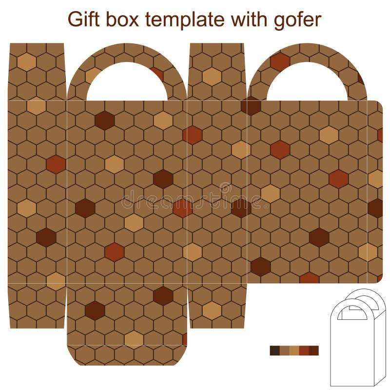 与gofer的礼物盒模板 皇族释放例证