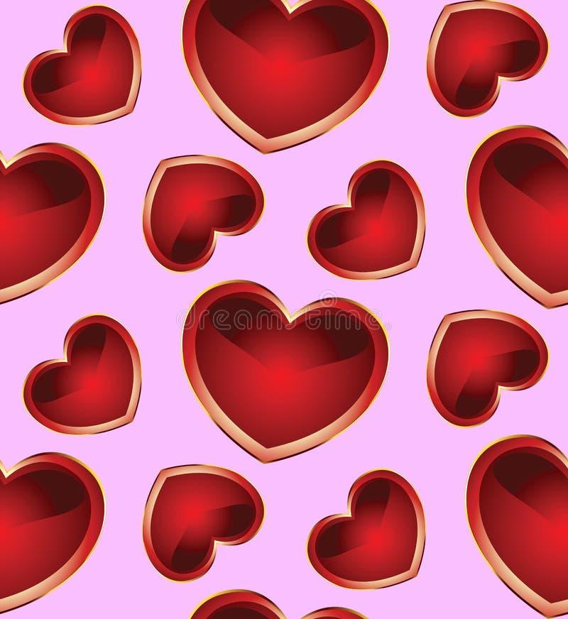 与hearts_2的无缝的背景 皇族释放例证