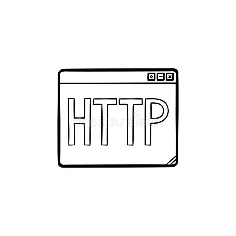 与http文本手拉的概述乱画象的浏览器视窗 皇族释放例证