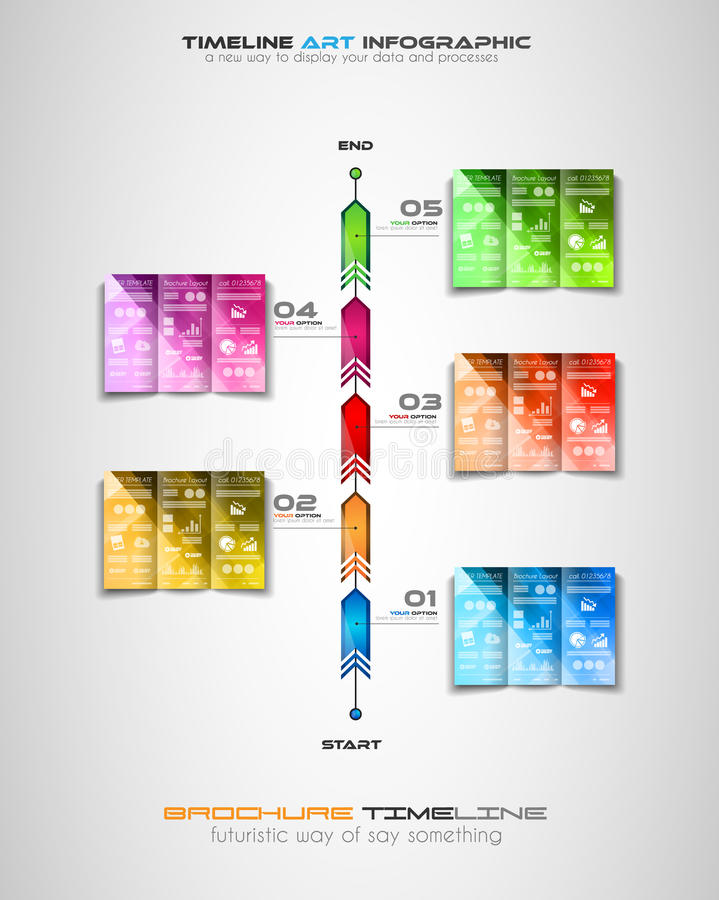 与Infographics设计元素的时间安排小册子的,数据显示 皇族释放例证