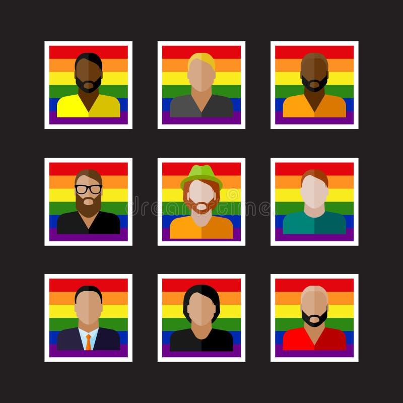 与LGBT社区成员的人象 向量例证