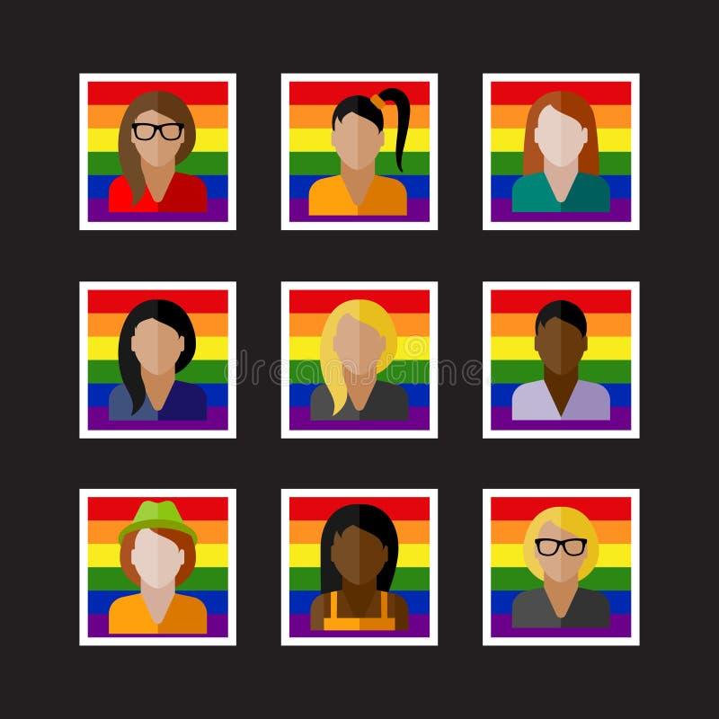 与LGBT社区成员的人象 皇族释放例证