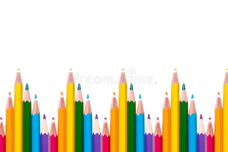 与LGBT颜色铅笔的背景 免版税库存照片