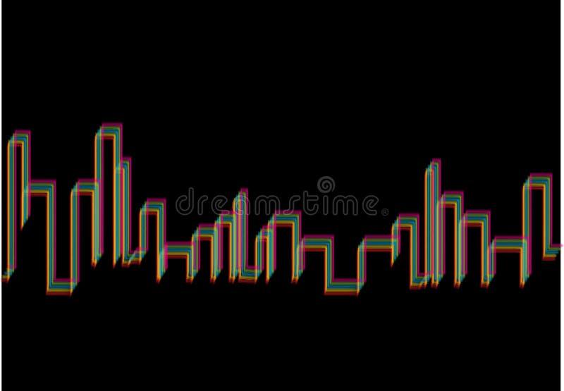 与multicolors线的抽象背景 库存照片