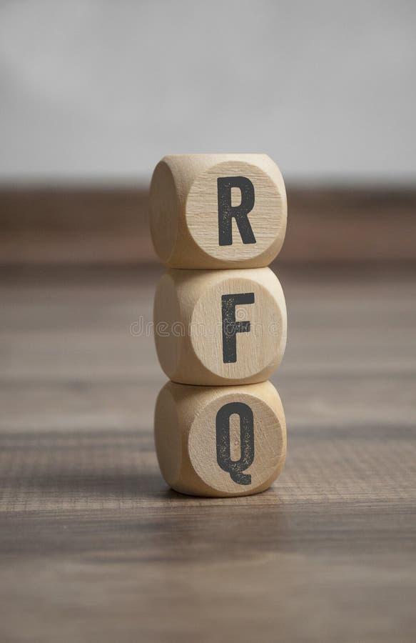 与RFQ要求的立方体引文 图库摄影