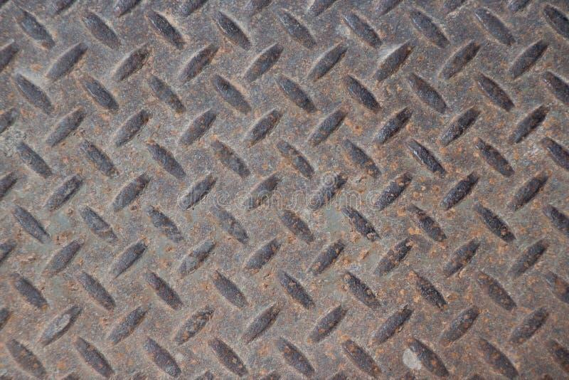 与Ru的生锈的脏的工业验查员板材背景纹理 库存照片