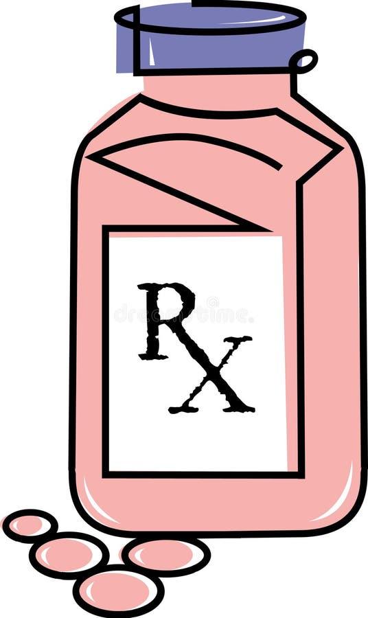 与rx符号的治疗 皇族释放例证