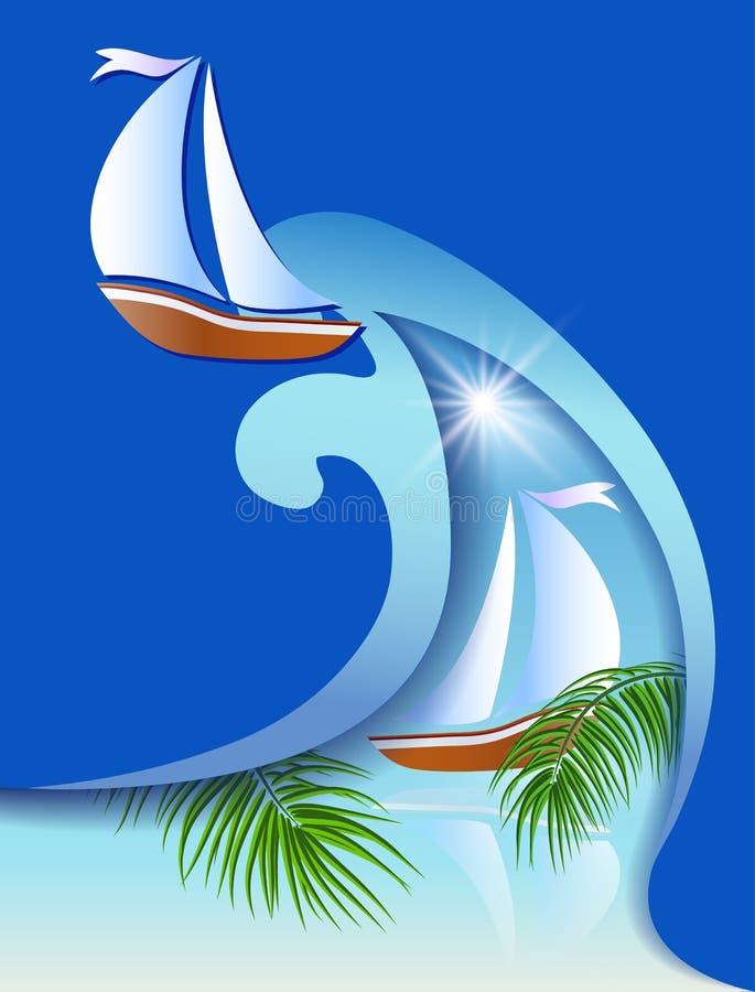 Download 与sailer的飞行物模板 向量例证. 插画 包括有 海运, 海洋, 航行, sailer, 背包, 横向 - 30330861