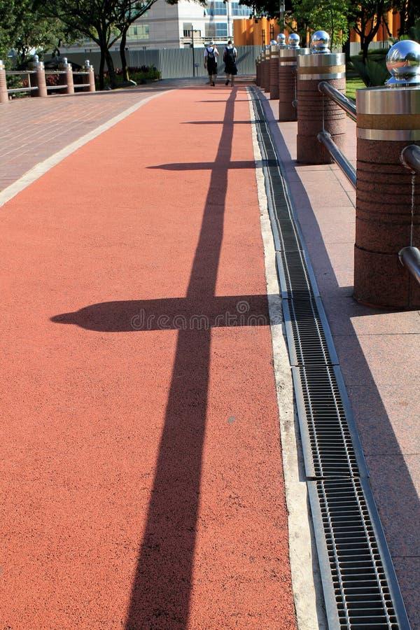 与shadown的体育轨道 免版税库存照片
