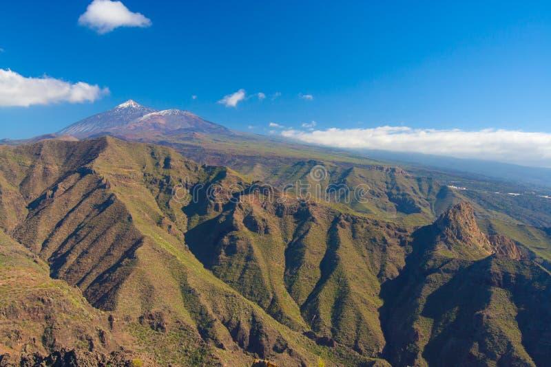 与Teno山的Pico del泰德峰,特内里费岛,西班牙 库存照片