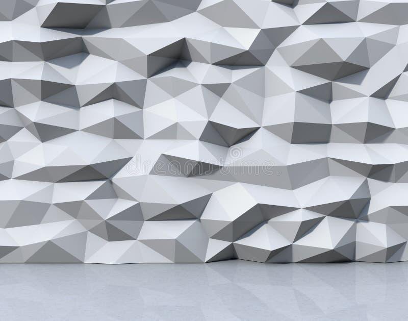 与triangulate多角形样式的抽象白色背景 皇族释放例证