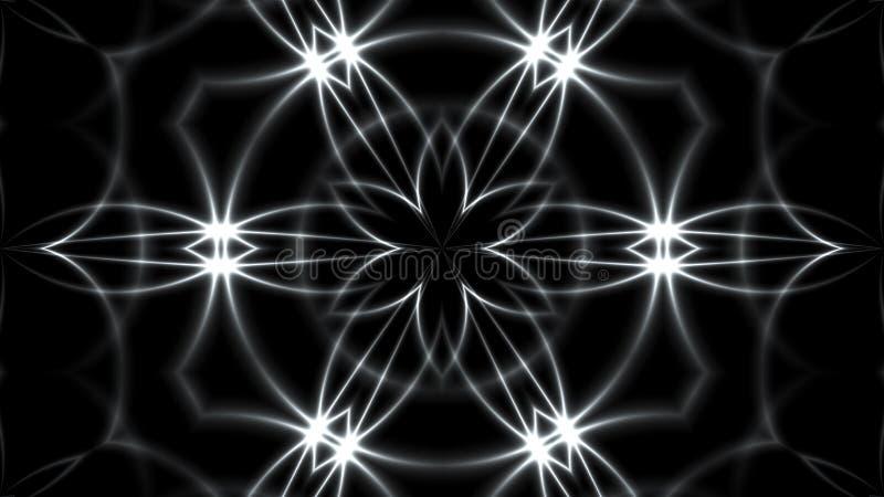 与VJ万花筒分数维的银的抽象背景 回报数字式背景的3d 皇族释放例证