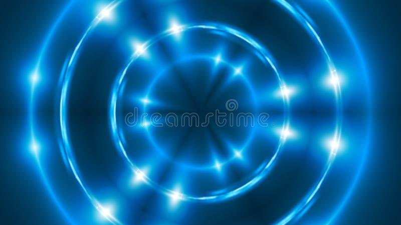 与VJ分数维蓝色万花筒的抽象背景 回报数字式背景的3d 皇族释放例证