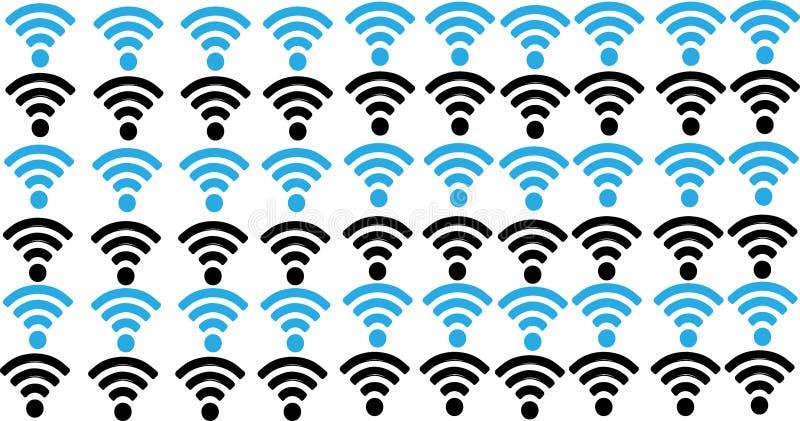 与wifi标志的抽象通信背景 皇族释放例证