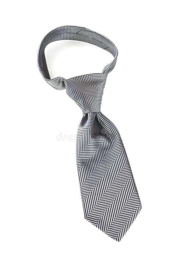 与Windsor结的灰色领带 免版税库存图片