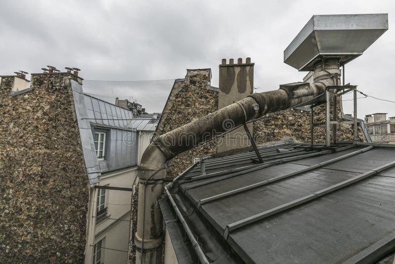 丑恶的屋顶视图 免版税库存照片