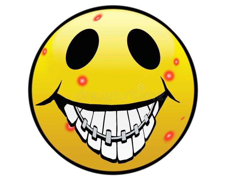 丑恶的微笑 库存例证