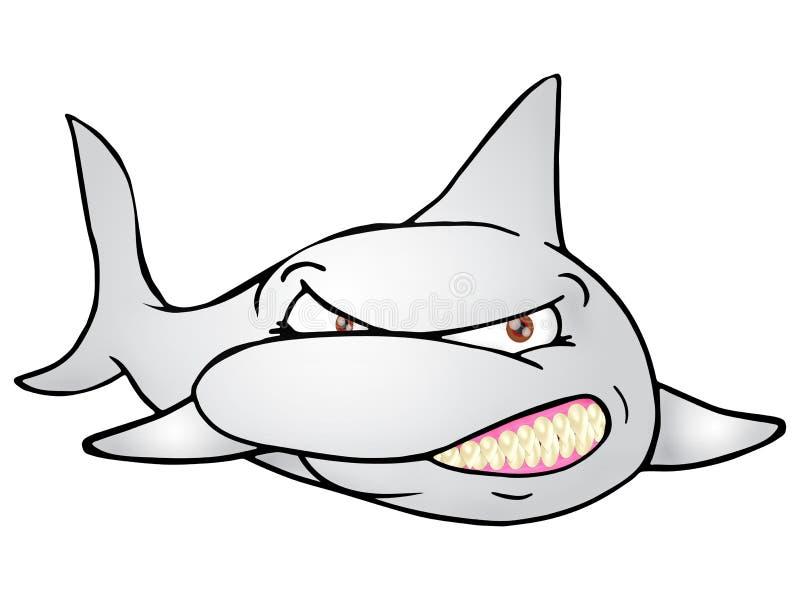 丑陋鲨鱼 皇族释放例证