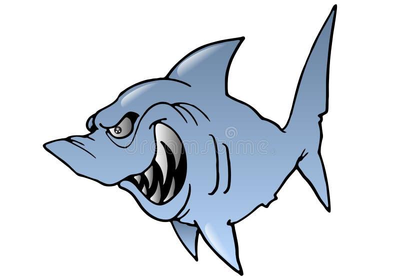 丑陋鲨鱼 向量例证