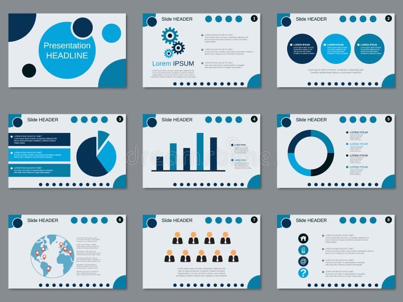 专业企业介绍,幻灯片放映传染媒介模板 向量例证