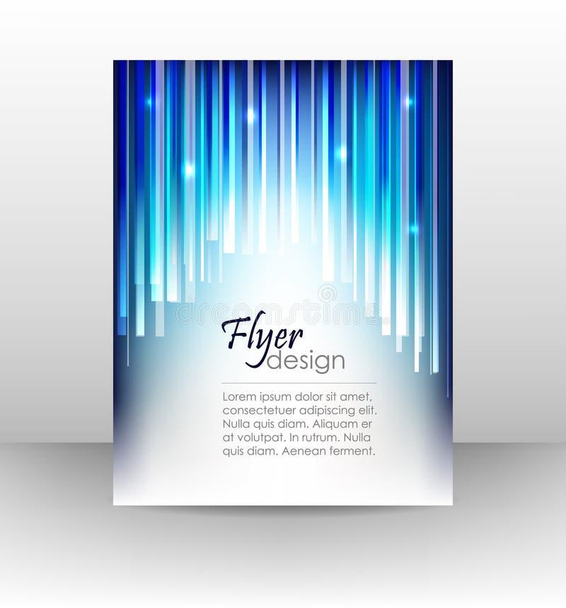 专业企业飞行物模板或公司横幅,盖子设计 库存例证