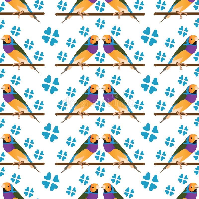 专业优质五颜六色的鸟样式背景 向量例证