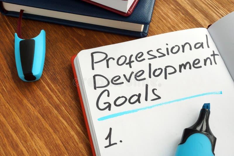 专业发展目标名单 免版税库存照片