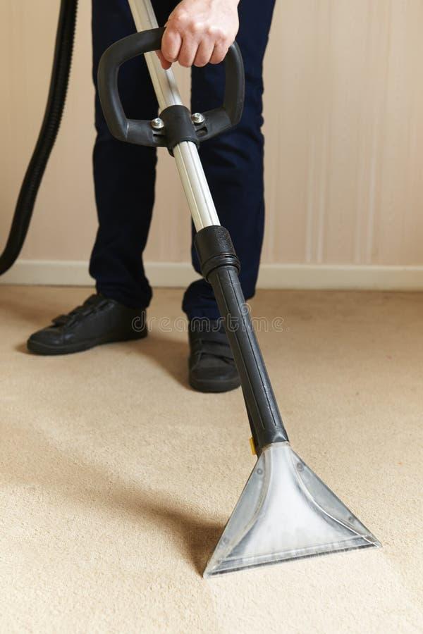 专业地清洗的地毯 免版税库存图片