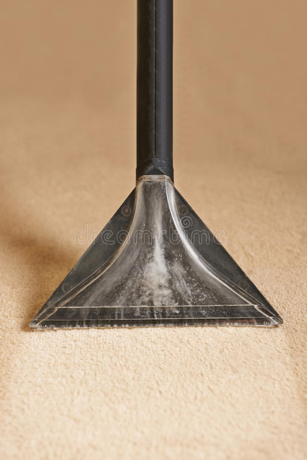 专业地清洗的地毯 免版税图库摄影